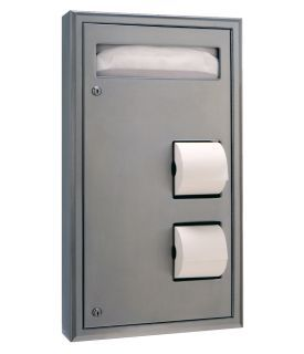 photo de Surface Mounted Seat-Cover Dispenser and Toilet Tissue Dispenser