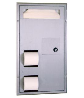 photo de Cloison mounted Seat-Cover Dispenser, Sanitary Napkin Disposal and Toilet Tissue Dispenser