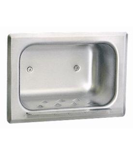 Porte-savon en acier inox satiné encastré
