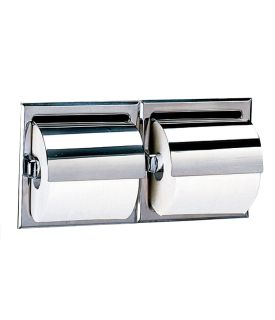 photo de Recessed Double-Roll Toilet Tissue Dispenser with Hood