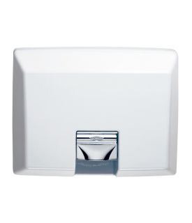 photo de White Enamel Recessed Automatic Hand Dryer