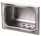 Heavy Duty Recessed Stainless Steel. Soap Dish