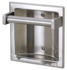 Stainless Steel Recessed Soap Holder & Grip Bar
