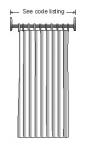 Crochets à rideau de douche ( Qte;12)