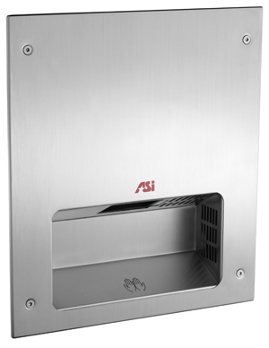 photo de Recessed Stainless Steel Automatic Dryer