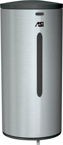 photo de Distributeur de savon automatique en acier inox. satiné en surface