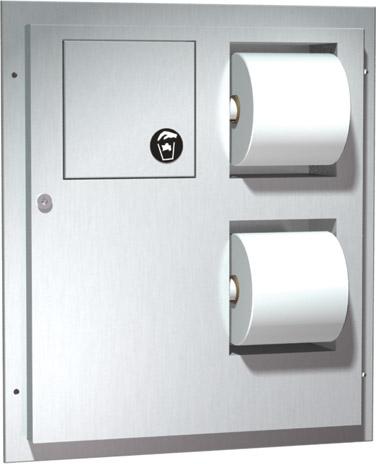 photo de Partition mounted Paper Towel Dispenser / Disposal