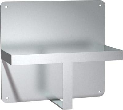 Support à bassine en acier inox. en surface